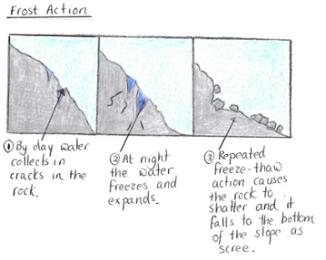 Leaving cert geography higher 2013 part two q3 a c a second type of physical weathering is exfoliation it is also known as onion weathering this is when the surface of the rock peels away layer by layer ccuart Choice Image